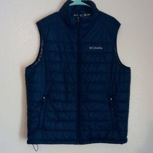 """Columbia men's """"L"""" Omni-Heat blue vest w/pockets"""